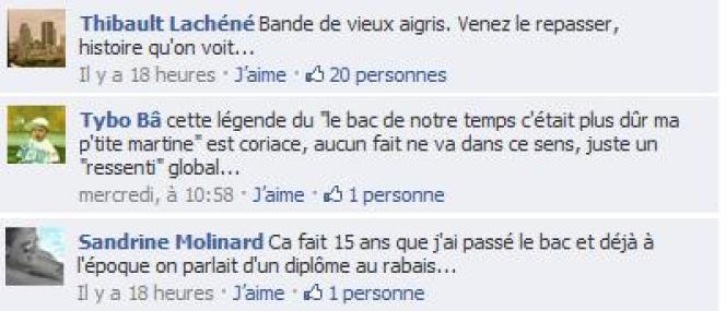 Réactions sur les pages Facebook du Monde.fr.