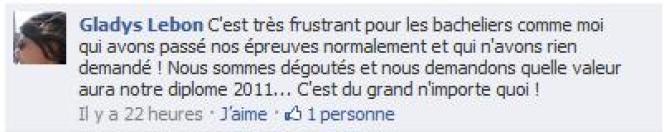 Réaction sur les pages Facebook du Monde.fr.