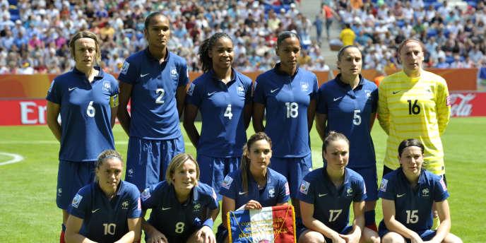 L'équipe de France de football féminin à Sinsheim le 26 juin 2011.