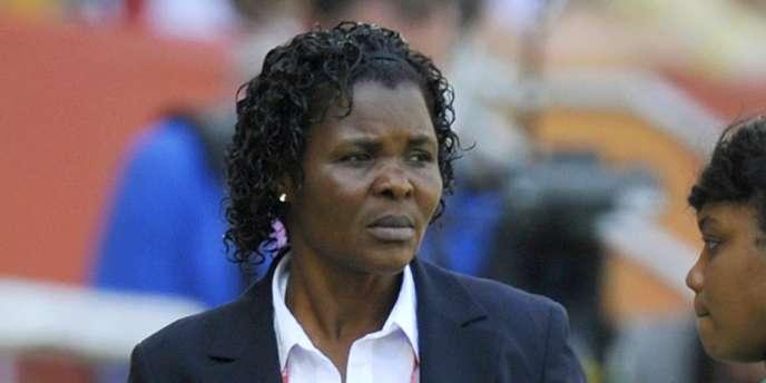 Eucharia Uche, le 26 juin lors du match Nigéria-France.