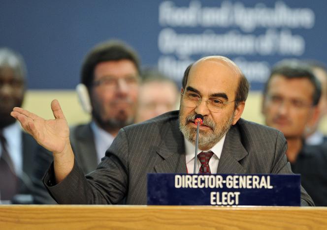 Le directeur de l'Agence des Nations unies pour l'alimentation et l'agriculture (FAO), José Graziano da Silva.
