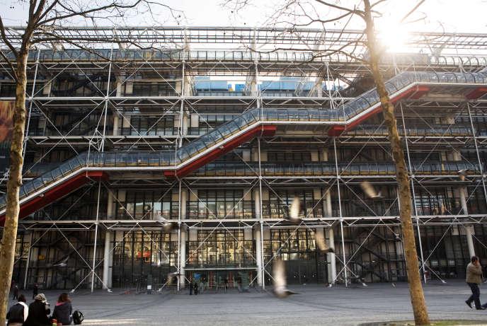 Le Centre Pompidou à Paris en mars 2010.