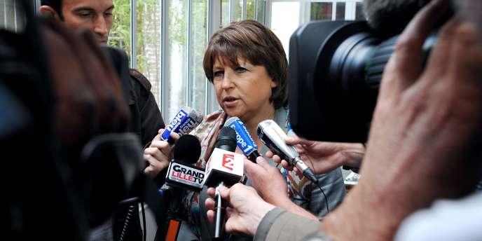 Martine Aubry à Lille, le 1er juillet.