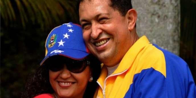 Hugo Chavez et sa fille Rosa Virginia à La Havane, le 2 juillet.