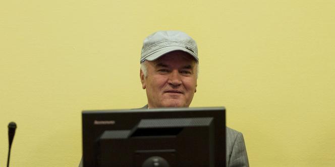 Ratko Mladic, le 4 juillet devant le Tribunal pénal international pour l'ex-Yougoslavie.