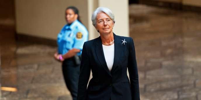La nouvelle directrice générale du FMI, Christine Lagarde, à Washington, mardi 5 juillet.