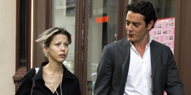 Tristane Banon et son avocat, David Koubbi, le 17 mai, à Paris.