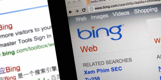 Les moteurs de recherche Bing (Microsoft).
