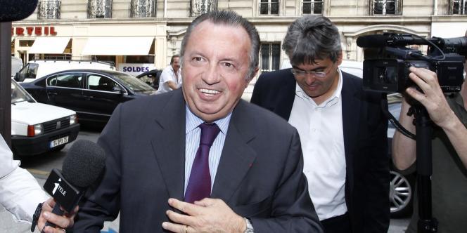 Jean-Noël Guérini, au siège du PS, rue de Solférino à Paris, le 5 juillet 2011.