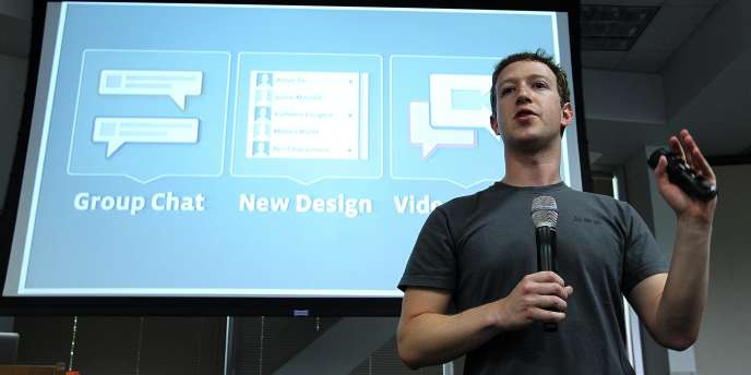 Mark Zuckerberg, le PDG de Facebook, annonce l'intégration de Skype dans Facebook, mercredi 6 juillet.