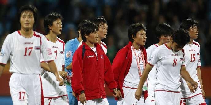 L'équipe de Corée du Nord, le 6 juillet à Bochum.