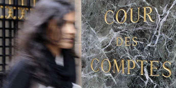 La Cour des comptes à Paris.