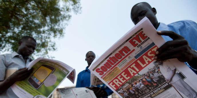Des habitants de Juba à la veille de la proclamation du nouvel Etat du Sud Soudan, vendredi 8 juillet.
