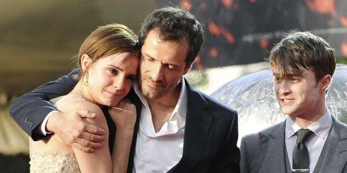 De gauche à droite : Emma Watson, le producteur David Heyman et Daniel Radcliffe lors de la première mondiale du dernier volet d'