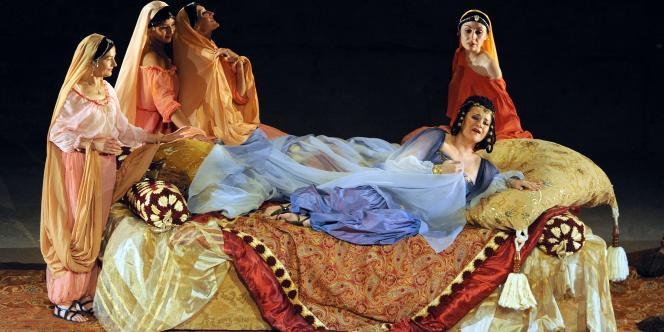 Une scène de l'opéra de Giuseppe Verdi,