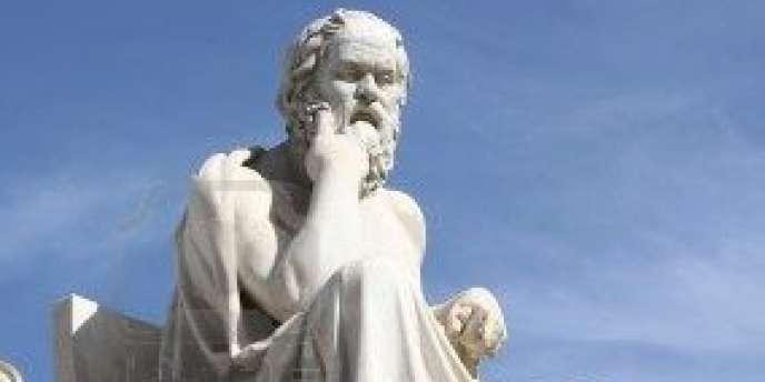 Statue de Socrate.