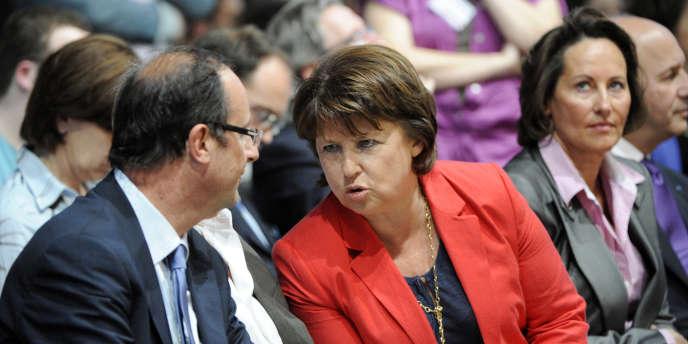 François Hollande et Martine Aubry, le 28 mai à Paris.