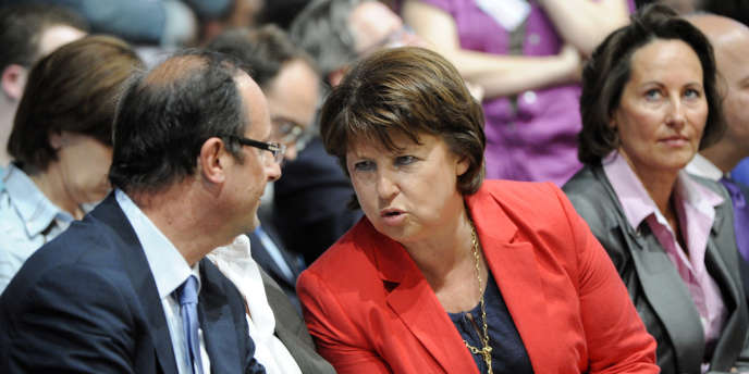 François Hollande, Martine Aubry et Ségolène Royal, le 28 mai 2011.