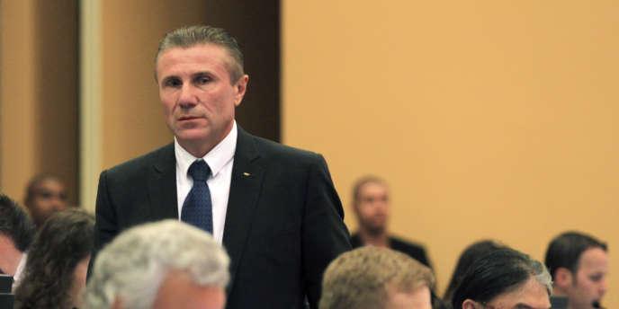 Sergueï Bubka, le 7 juin lors d'une réunion du CIO à Rio.