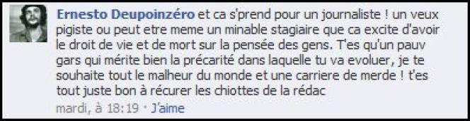 Commentaire sur la page lemonde.fr