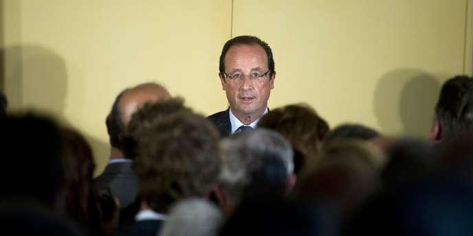 L'ancien secrétaire du PS et candidat à la primaire socialiste, François Hollande, le 12 juillet à Paris.