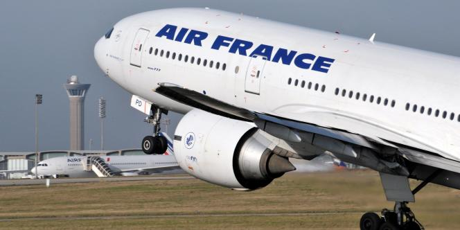 Un Airbus d'Air France au décollage.