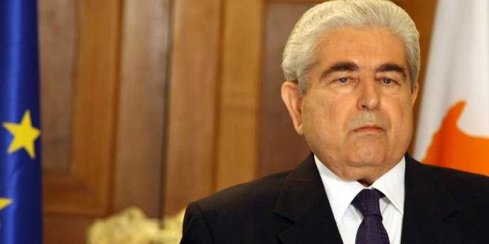 Le président chypriote Demetris Christofias, le 14 juillet 2011