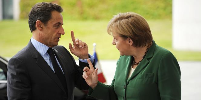 Nicolas Sarkozy et Angela Merkel, mardi 16 août.