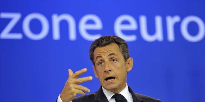 Nicolas Sarkozy à Bruxelles, le 21 juillet 2011.