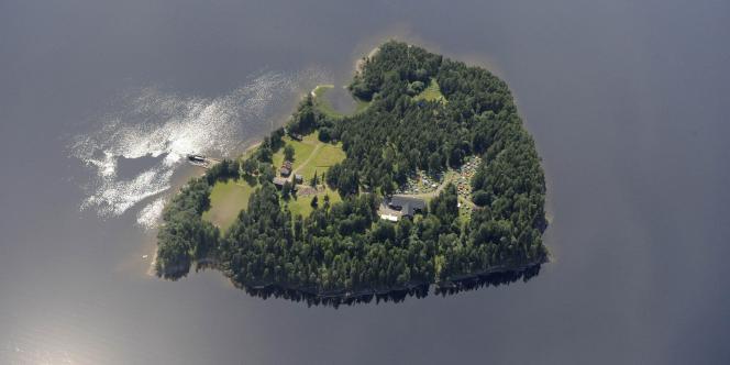 L'île d'Utoya, en Norvège, le 21 juillet 2011.