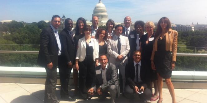 La délégation de l'Association nationale des élus locaux de la diversité (Aneld), à Washington, lors de son voyage d'étude.