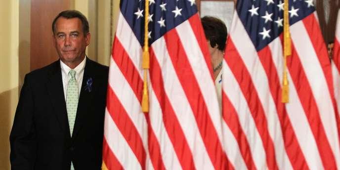 Le républicain John Boehner, principal interlocuteur de Barack Obama dans les négociations sur le budget américain.