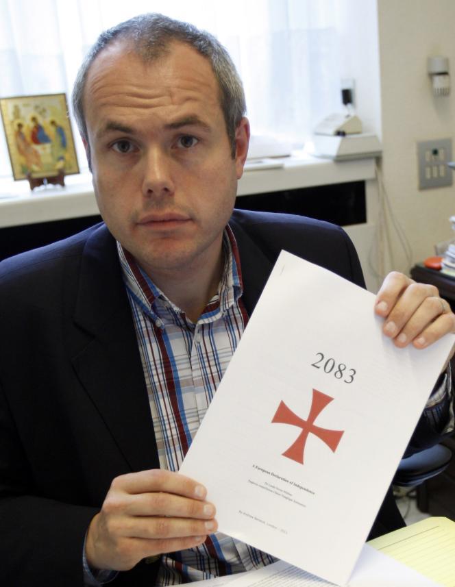 Le député belge Tanguy Veys, membre du parti flamand d'extrême-droite Vlaams Belang.