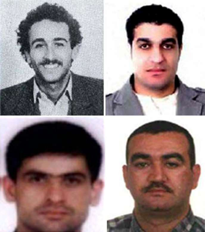 Le Tribunal spécial pour le Liban (TSL) a confirmé vendredi 29 juillet les noms des quatre suspects du Hezbollah visés dans son acte d'accusation. De gauche à droite, Mustafa Badreddine, Hassan Sabra, Hussein Oneissi et Salim Ayache.