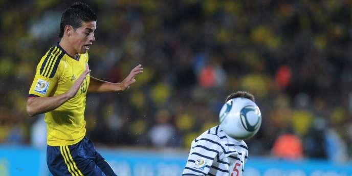 James Rodriguez a éclipsé la défense tricolore, le 31 juillet à Bogota.