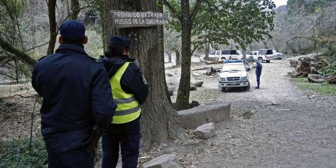 L'entrée de la vallée de San Lorenzo, dans la province de Salta, où deux touristes françaises ont été retrouvées mortes.