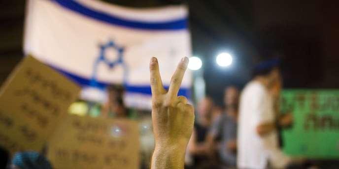 Manifestation à Tel-Aviv, samedi 30 juillet.