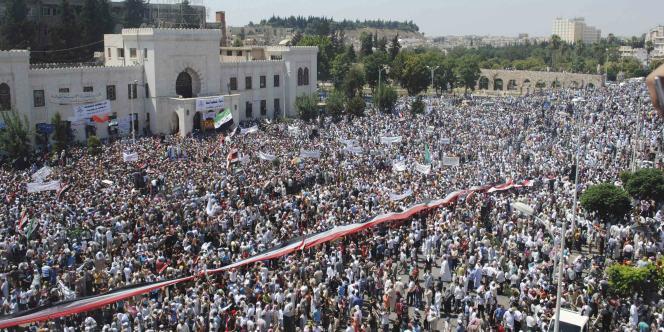 Foyer du mouvement de contestation de Bachar Al-Assad, Hama a de nouveau accueilli une grande manifestation contre le régime, vendredi 29 juillet.