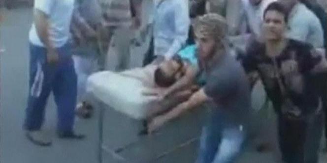 Images extraites de vidéos amateurs montrant la répression de la contestation par le régime à Hama, le 31 juillet.