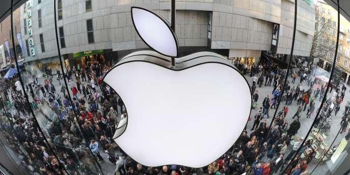 Le logo de l'entreprise Apple en mars 2011.