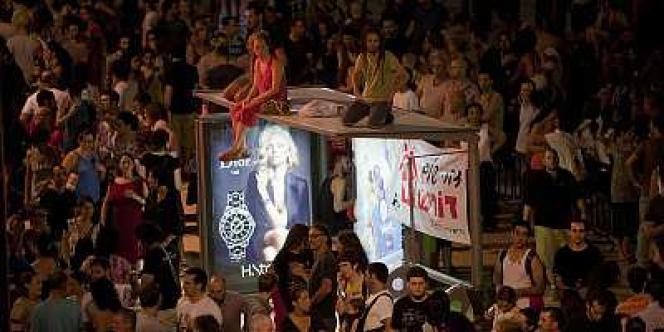 Manifestation contre la vie chère à Tel Aviv.