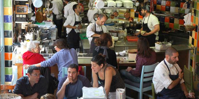 Dans un restaurant à côté de Yehuda Market, à Jérusalem.