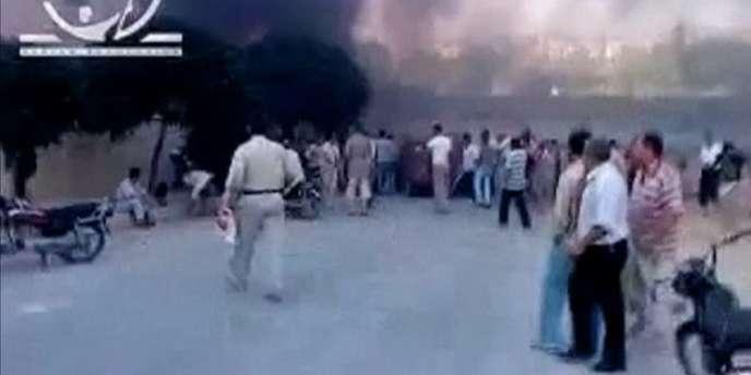 La ville d'Hama est le théâtre de violents affrontements depuis dimanche.