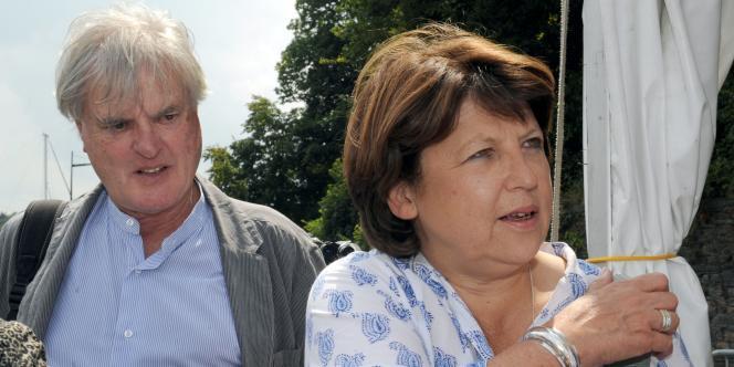 Martine Aubry et son mari Jean-Louis Brochen, le 29 juillet.
