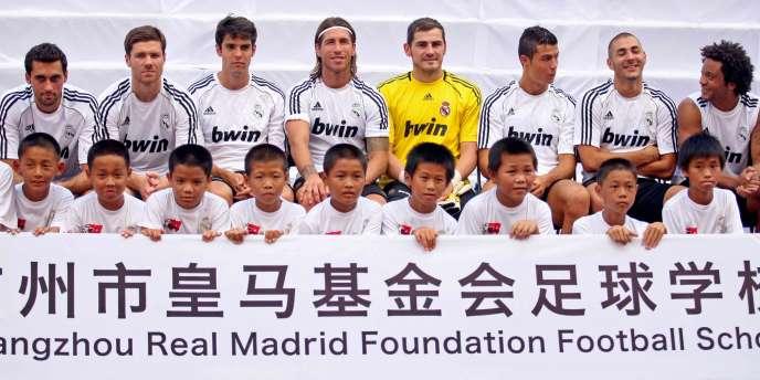Les joueurs du Real Madrid, le 3 août dans la province du Guangdong, en Chine.
