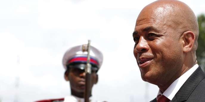 Le président haïtien Michel Martelly, en voyage officiel en République dominicaine, mardi 2 août.