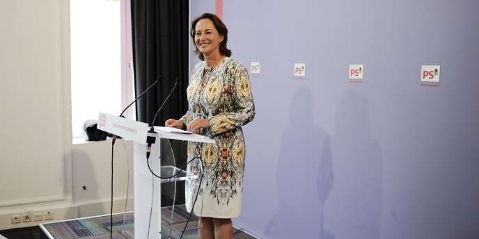 Ségolène Royal, lors d'une conférence de presse au siège du Parti socialiste, mercredi 3 août.