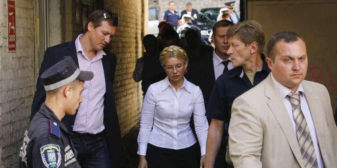 Ioulia Timochenko à son arrivée au tribunal de Kiev, le 5 août.