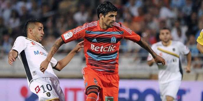 Lucho Gonzalez, le 6 août au Stade Vélodrome.