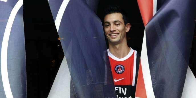 Javier Pastore, ici le 8 août à Paris, a été transféré de Palerme au PSG pour la somme de 42 millions d'euros, un record en France.